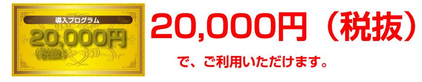 導入プログラム20000円税抜